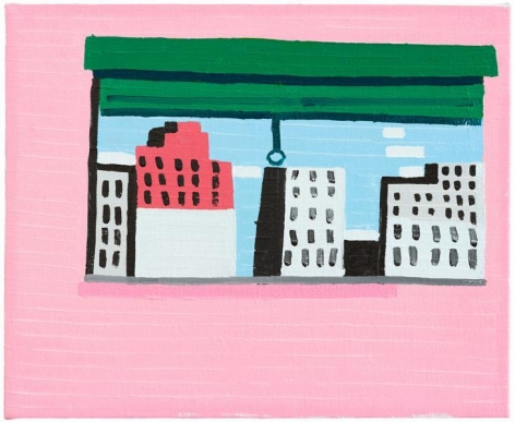 Guy Yanai, The Window (After P.G.), 2014, Oil on linen, 14 1/2 x 11 3/4 inches, 37 x 30 cm, A/Y#22007