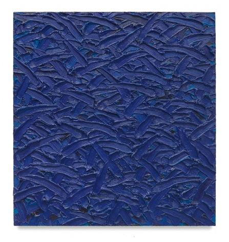Ratio Blue 3/2/1 #3, 2011, Oil on canvas on wood panel, 44 x 33 inches, 111.8 x 83.8 cm, MMG#30151