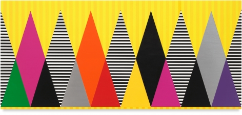 Untitled (Magic Mountain), 2020, Acrylic paint on wood, 36 x 80 inches, 91.4 x 203.2 cm,MMG#32458