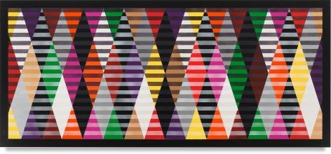 Untitled (Magic Diamonds), 2020,Acrylic paint on wood,36 x 80 inches,91.4 x 203.2 cm,MMG#32461