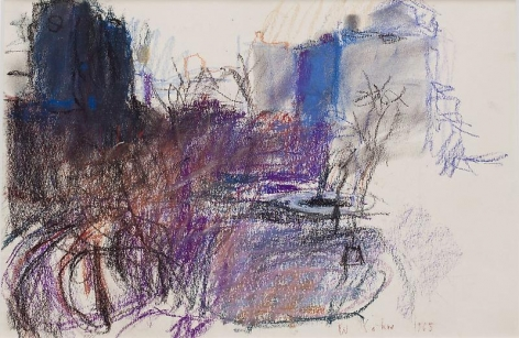 """From Our E 15th Street Window,"" 1965, Pastel on paper, 12 x 18 inches, 30.5 x 45.7 cm, A/Y#20365"