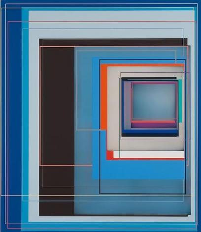 """""""Big Blue,"""" 2011, Acrylic on canvas, 66 x 57 inches, 167.6 x 144.8 cm, A/Y#19961"""