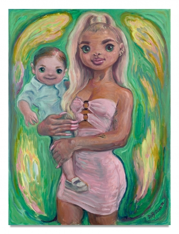 Delia Brown, Blonde Mom, 2020, Oil on linen, 24 x 18 inches, 61 x 45.7 cm, MMG#32532