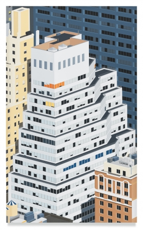 Manhattan, 2019,Acrylic on dibond,39 x 23 5/8 inches,99.1 x 60 cm,MMG#31505