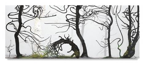 Inka Essenhigh, Forrest Tableau, 2017, Enamel on canvas