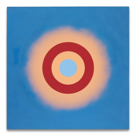 Kenneth Noland, Mysteries: Wild Heart, 2000, Acrylic on canvas, 48 x 48 inches, 121.9 x 121.9 cm, MMG#7741,