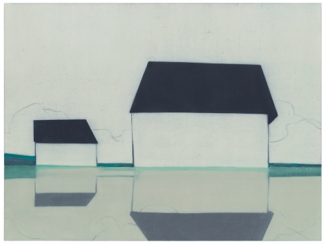 696 (Glimpse, Valley Farm Rd.), 2014, Oil on linen, 36 x 48 inches, 91.4 x 121.9 cm, MMG#22291