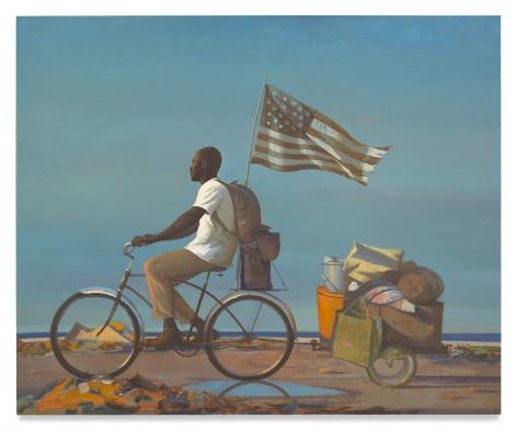 Bo Bartlett, Freedom, 2019, Oil on linen, 82 x 100 inches, 208.3 x 254 cm, MMG#30929