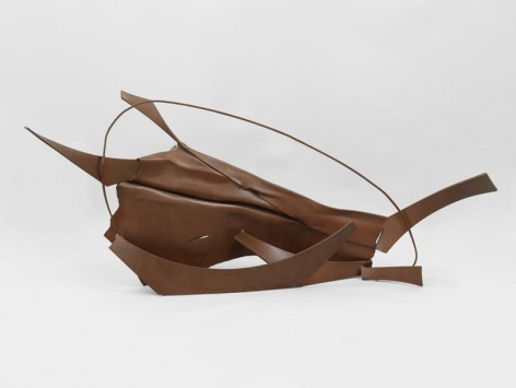 Anthony Caro, Table Piece CCXLVI, 1975, Steel, rusted, & varnished, 38 x 84 x 20 inches 96.5 x 213.4 x 50.8 cm, AMY#28385