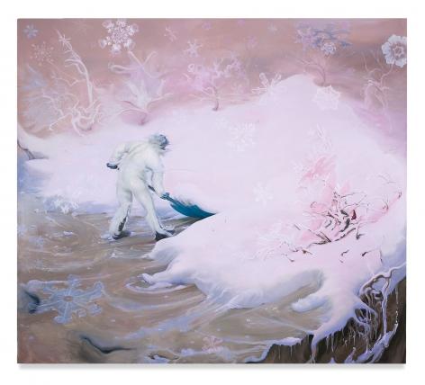 Inka Essenhigh, Snowflake (Pink), 2009, Oil on canvas