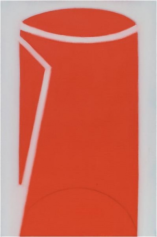 """621 (Red Pitcher/Can),"" 2011, Oil on linen, 30 x 20 inches, 76.2 x 50.8 cm, A/Y#20573"