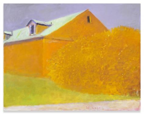 Ochre Barn, Ochre Bush, 2004, Oil on canvas, 34 x 45 inches, 86.4 x 114.3 cm,MMG#31417