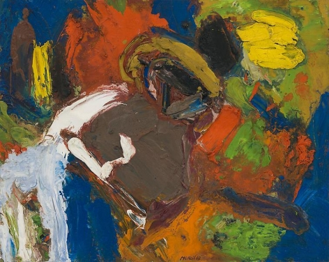 "George McNeil, ""Landscape Motif,"" 1968, Oil on panel, 16 x 20 inches, 33 x 41 cm, A/Y#17723"