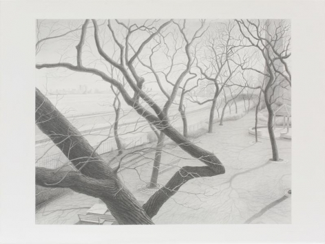 Underpass, 2010, Graphite on paper, 22 1/2 x 30 inches, 57.2 x 76.2 cm, A/Y#21571