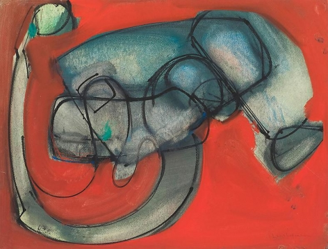Untitled, 1946, Oil and gouache on paper, 19 x 25 inches, 48.3 x 63.5 cm, A/Y#4158