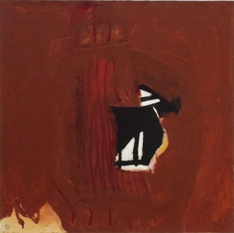 Robert Motherwell, Collaged Wall II, 1985, Acrylic, pasted papers, and oil crayon on canvas mounted on Masonite, 36 x 36 inches, 91.4 x 91.4 cm, A/Y#12526