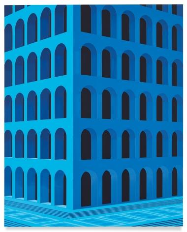 City Square at 4 am (Palazzo della Civiltà Italiana, Small Version), 2020,Acrylic on dibond,26 1/2 x 21 1/4 inches,67 x 54 cm,MMG#32187