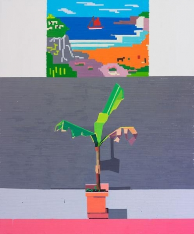 End of Europe (Geographically), 2015, Oil on linen, 72 x 60 inches, 182.9 x 152.4 cm, A/Y#22576