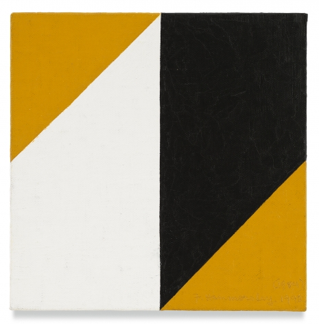 Frederick Hammersley, Flex, 1984 - 92, Oil on linen on panel, 7 x 7 inches, 17.8 x 17.8 cm, MMG#13536