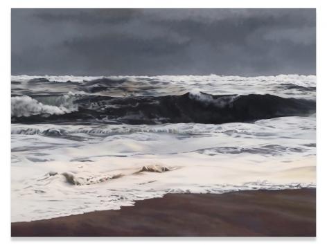 Storm, Light, Ocean, 2014, Oil on linen, 74 x 98.5 inches, 188 x 250.2 cm, MMG#30408