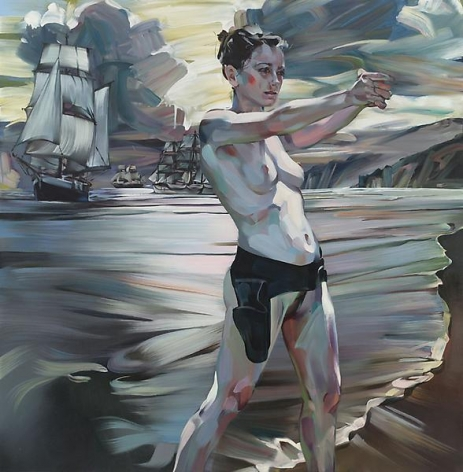 """""""Stand and Deliver,"""" 2011, Oil on canvas, 78 x 76 inches, 198.1 x 193 cm, A/Y#19912"""