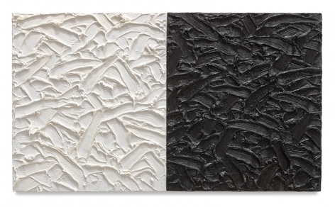 Abstract Diptych #14, 2011, Oil on canvas on wood panel, 19 x 30 inches, 48.3 x 76.2 cm, MMG#30179