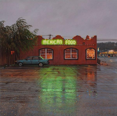"""""""Mexican Food,"""" 2012, Acrylic on panel, 6 x 6 inches, 15.2 x 15.2 cm, A/Y#20157"""