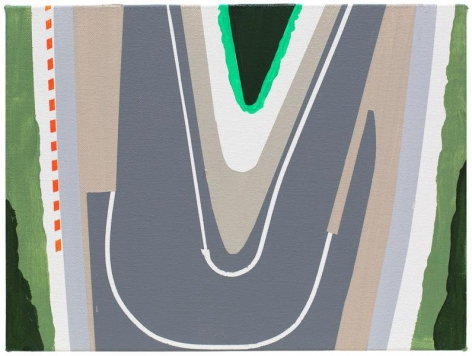Over Track, 2014, Acrylic on canvas, 12 x 9 inches, 30.5 x 22.9 cm, A/Y#21956