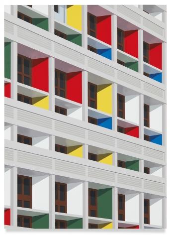 Unité d'Habitation, Marseille, 2019,Acrylic on dibond,22 x 16 inches,56 x 40.5 cm,MMG#32191