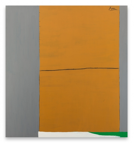 Open No. 2: In Ochre and Grey, 1967/ca. 1971, Acrylic and charcoal on canvas, 75 x 69 inches, 190.5 x 175.3 cm, MMG#20643