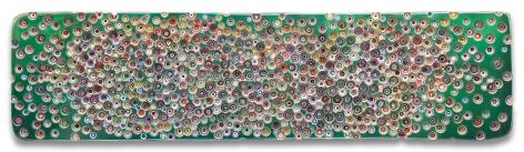 WEREWEASKEDIFWEWANTEDTOLIVEORNOT(BLUMFELD), 2018, Epoxy resin and pigments on wood, 24 x 96 inches, 61 x 243.8 cm, MMG#29847
