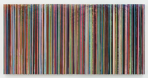 """LASTKNOWNSOURROUNDINGS,"" 2012, Watercolor, pigments and epoxy resin on wood, 60 x 120 inches, 152.4 x 304.8 cm, A/Y#20423"