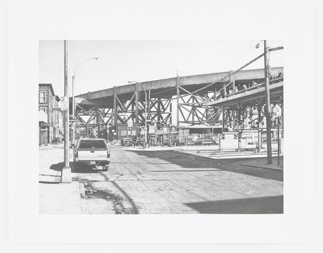 Culver Viaduct from Smith Street, 2016, Pencil on Bristol Board, 15 x 21 inches, 38.1 x 53.3 cm, AMY#28670