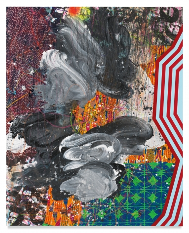 People Get Ready, 2019,Acrylic, oil, spray paint, glitter, collage, crayon, graphite, on canvas,60 x 48 inches,152.4 x 121.9 cm,MMG#31532