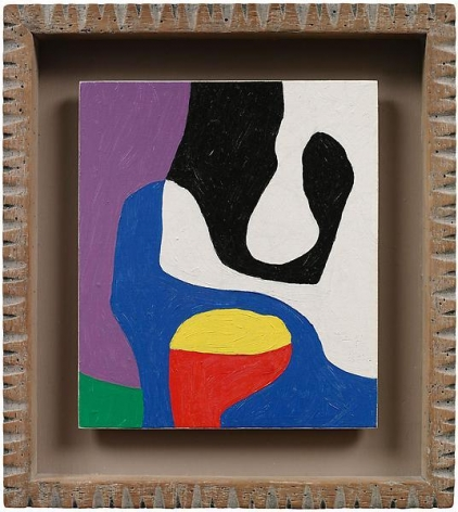 """""""Small wonder,"""" 1984-8, Oil on linen, framed 10 1/8 x 9 inches, 25.7 x 22.9 cm, A/Y#19702"""