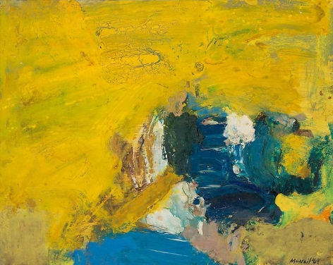 "George McNeil, ""Landscape,"" 1969, Oil on panel, 16 x 20 inches, 40.6 x 50.8 cm, A/Y#19674"