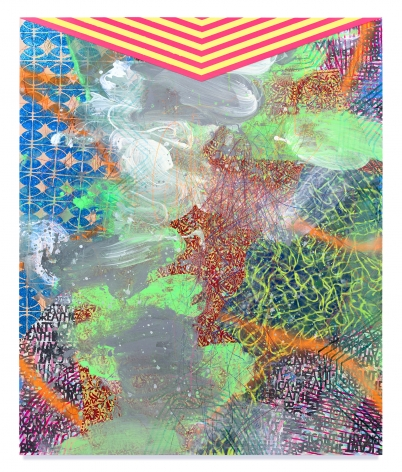 David Huffman, Sublimation, 2020, Mixed media on wood panel, 72 x 59 3/4 inches, 182.9 x 151.8 cm,MMG#32823