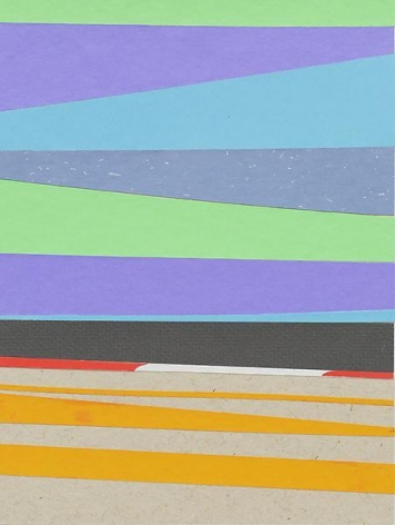 Brian Alfred, Purple Track, 2014, Collage, 10 1/4 x 7 3/4 inches, 26 x 19.7 cm, A/Y#21511