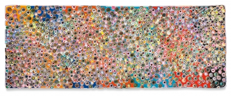 Markus Linnenbrink, IWOKEUPINAMERICA, 2021, Epoxy resin and pigments on wood, 36 x 96 inches, 91.4 x 243.8 cm,MG#32899