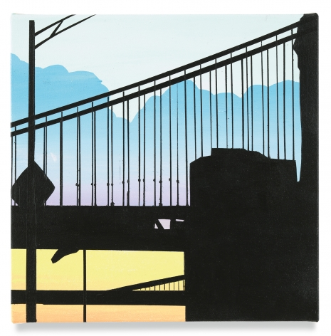 Brian Alfred, Two Bridges(s), 2019, Acrylic on canvas