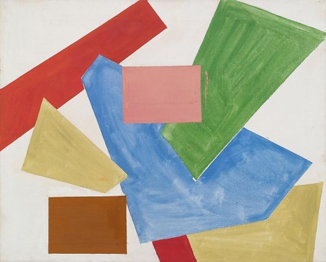 """Abstraction in White,"" 1954, Oil on linen, 40 x 50 inches, 101.6 x 127 cm, A/Y#3944"