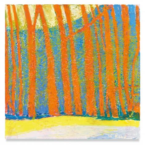 Wolf Kahn, Woodland Density, 2019, Oil on canvas