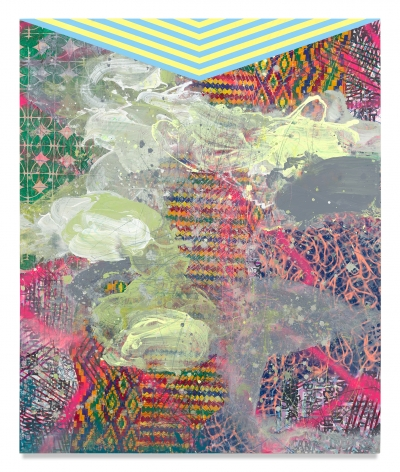 Cosmology, 2020, Mixed media on wood panel, 72 x 59 3/4 inches, 182.9 x 151.8 cm