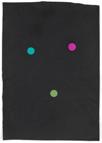 Stephen Dean, Juggler, 2014, Aluminum paper and dichroic glass, 34 x 24 inches, 86.4 x 61 cm, A/Y#21628