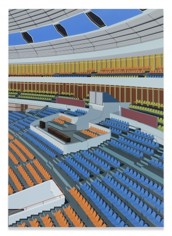 Stadium, Pyongyang, 2018,Acrylic on Dibond,84 x 60 inches,213.4 x 152.4 cm,MMG#31306