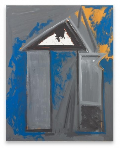 Robert Motherwell, The House of Atreus, 1968-75 / ca. 1990, Acrylic on canvas, 69 x 54 inches, 175.3 x 137.2 cm, AMY#15519