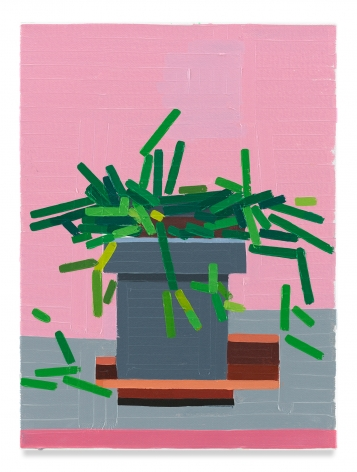 European Plant (Marseille), 2019,Oil on canvas,16 x 11 7/8 inches,40.6 x 30.2 cm,MMG#32141