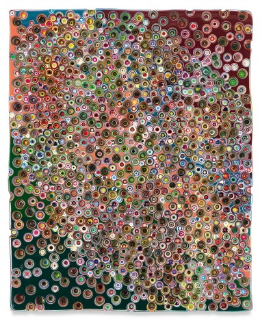 COMPLETELYOUTOFMYMIND, 2020, Epoxy resin and pigments on wood, 60 x 48 inches, 152.4 x 121.9 cm, MMG#32910