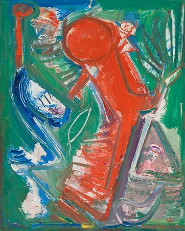 """Acension,"" 1952, Oil on canvas, 60 x 48 inches, 152.4 x 121.9 cm, A/Y#3630"