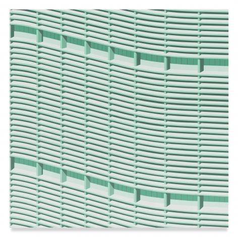 Daniel Rich, Edificio Copan, 2018, Acrylic on Dibond